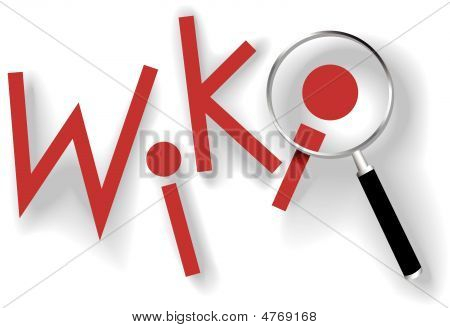 Wiki Find Information Magnifying Glass Shadows