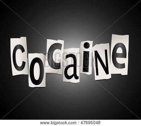 Cocaine Concept.