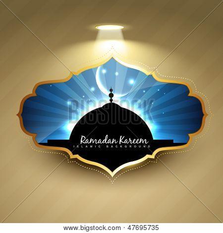 stylish ramadan kareem label design