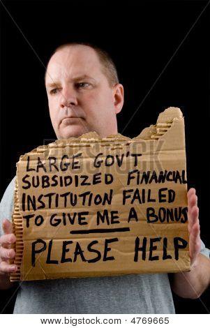Begging Banker