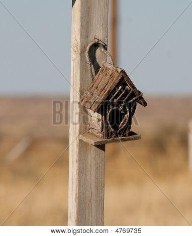 Old Bird House In Desert