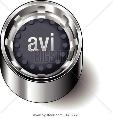 Rubber-button-round-document-file-type-avi