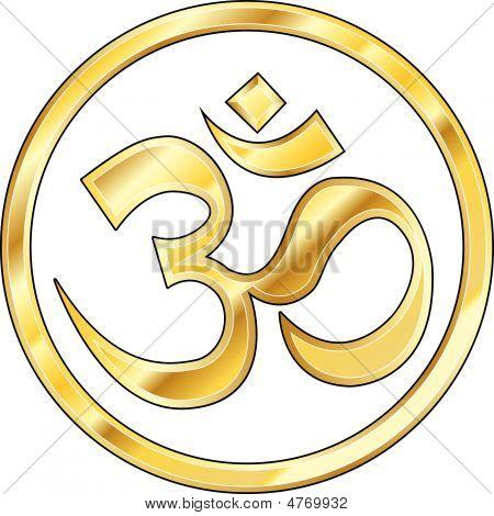 Gouden hindoe Om pictogram