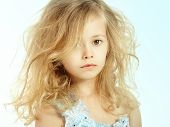 pic of little girls photo-models  - Portrait of pretty little girl - JPG