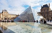 Glass Pyramid Of Louvre, Paris