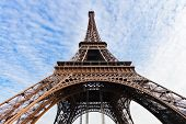foto of arch foot  - arch supports of Eiffel Tower in Paris - JPG
