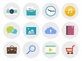 foto of video chat  - Vector collection of modern icons in flat design on various theme - JPG