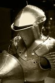 picture of armor suit  - Iron reinforcement suit of armor of the middle age - JPG