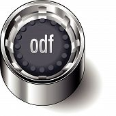 Rubber-button-round-document-file-type-odf