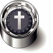 Rubber button round faith christianity