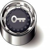 Rubber button round skeleton key