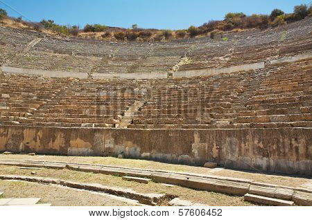 Seats Of Odeon Theater In Ancient Ephesus. Turkey