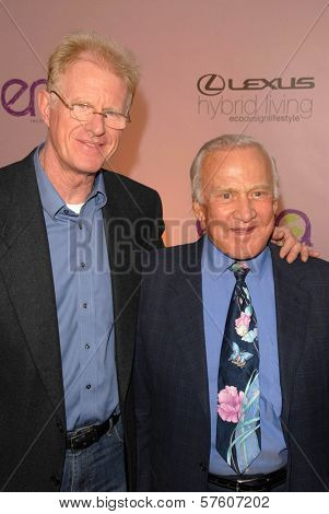 Ed Begley Jr and Buzz Aldrin at the 2009 Environmental Media Association Awards. Paramount Studios, Los Angeles, CA. 10-25-09
