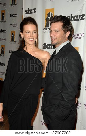 Kate Beckinsale and Len Wiseman  at the 13th Annual Hollywood Awards Gala. Beverly Hills Hotel, Beverly Hills, CA. 10-26-09