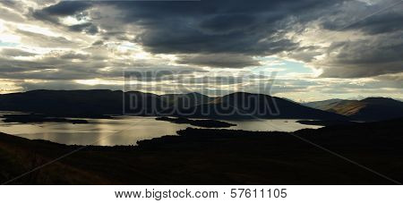 Loch Lomond Is A Freshwater Scottish Loch. It Is The Largest Inland Stretch Of Water In Great Britai