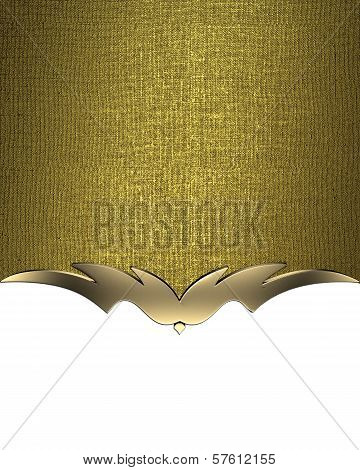 White background with gold nameplate and a pattern on the edges