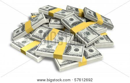 Us Dollar Notes Scattered Pile