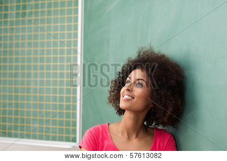 Beautiful Young Student Daydreaming