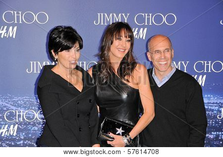 Marilyn Katzenberg, Tamara Mellon and Jeffrey Katzenberg  at the Jimmy Choo For H&M Collection, Private Location, Los Angeles, CA. 11-02-09