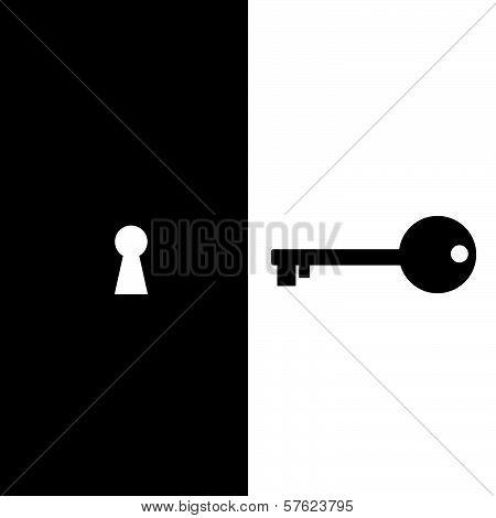 Key And Keyhole Vector