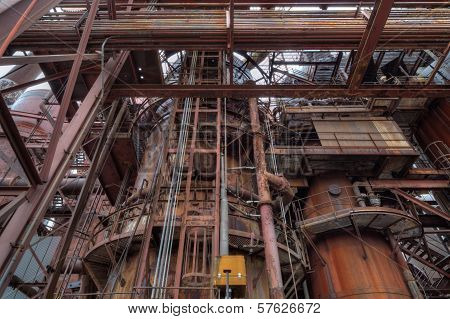 Abandonded Old Steel Mill Detail