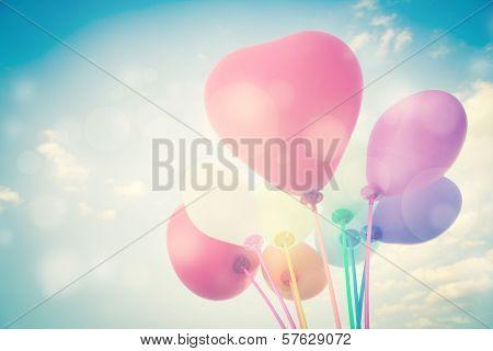 Heart Shape Balloons Background