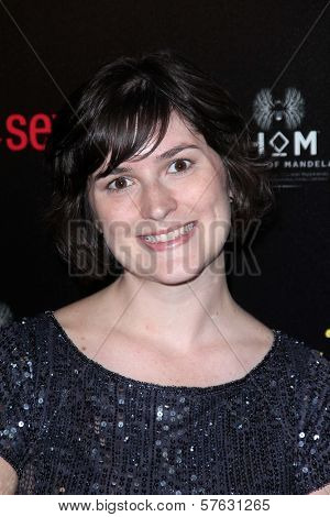 Sandra Fluke at the 2012 Gracie Awards Gala, Beverly Hilton Hotel, Beverly Hills, CA 05-22-12