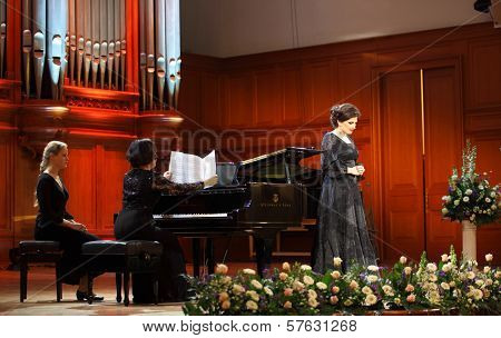 Dinara Aliyeva Singer. Classical Music Concert In Moscow Conservatory.