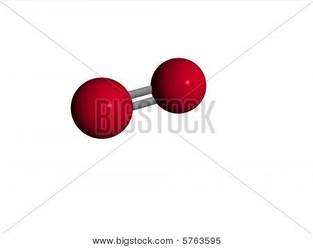 Molecule - oxygen - O2
