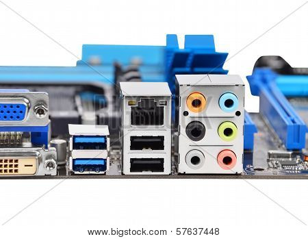 Connector of computer motherboard