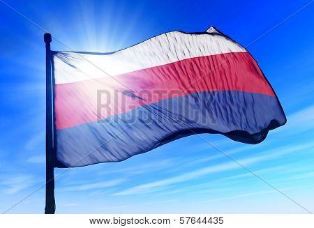 Bohemia and Moravia (1939-1945) flag waving on the wind