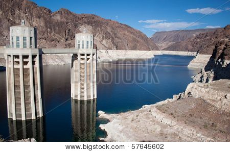 Lake Meade From The Hoover Dam