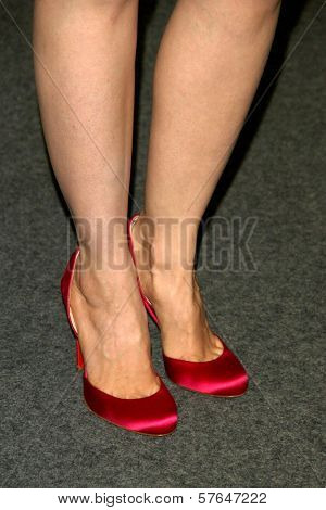 Pell James's shoes  at the Los Angeles Premiere of 'Surveillance'. The Landmark, Los Angeles, CA. 06-15-09