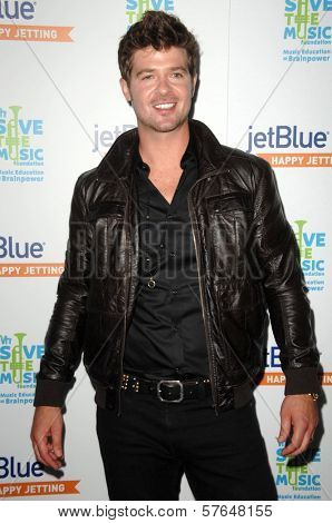 Robin Thicke  at the JetBlue Airways and VH1 Save the Music Party. MyHouse, West Hollywood, CA. 06-17-09