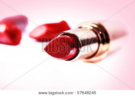 close up of a make-up accessories -lipstick
