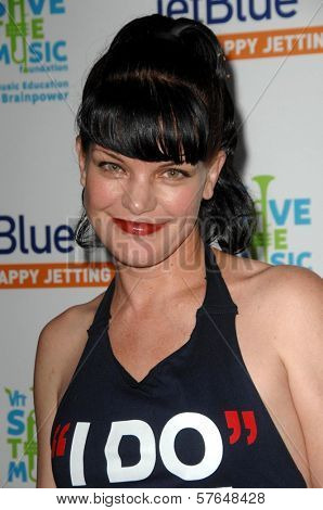 Pauley Perrette at the JetBlue Airways and VH1 Save the Music Party. MyHouse, West Hollywood, CA. 06-17-09