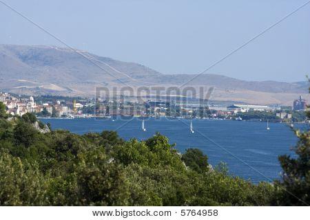 Sibenik City Bay, Adriatic Coast, Croatia