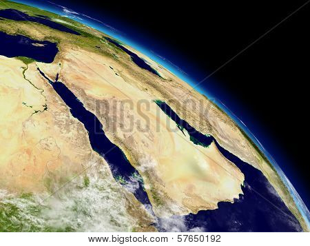 Arabian Peninsula From Space