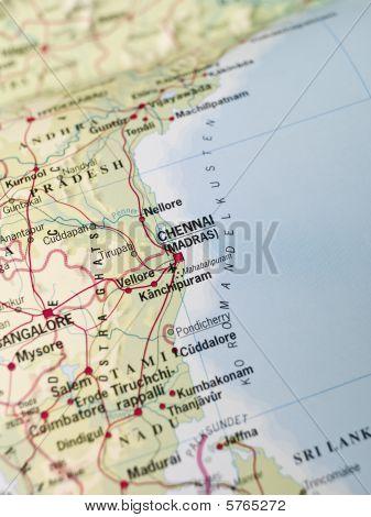 Mapa de Chennai