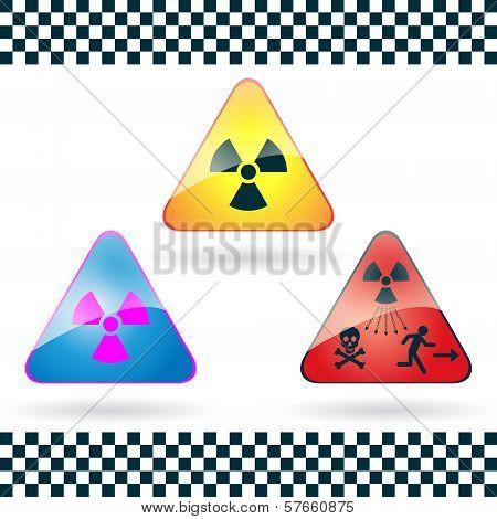 Danger sign of radioactivity