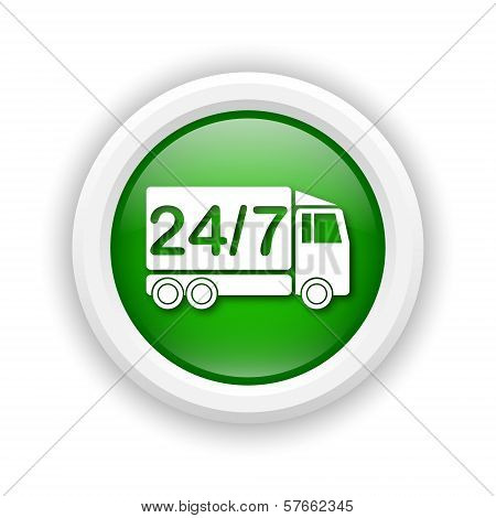24 7 Delivery Truck Icon