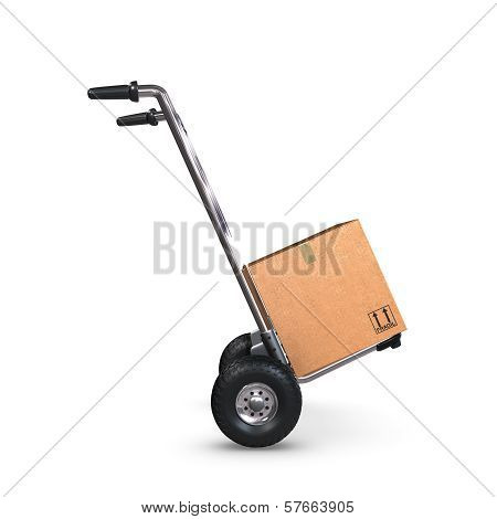 Hand Truck Tilted With One Box Profile