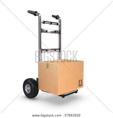Hand Truck Upright With One Box