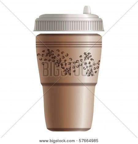 Paper Coffee Take Away Cup. Eps10