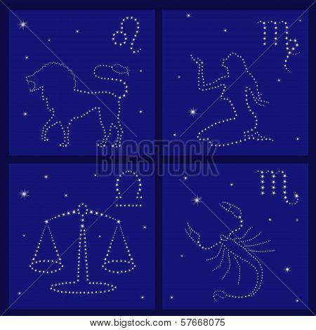 Four Zodiac Signs: Leo, Virgo, Libra, Scorpio