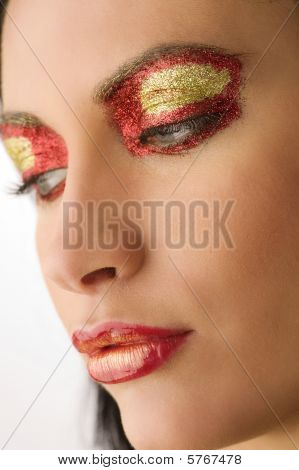 Shining Colored Make Up