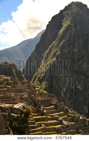 Detail ruins of Machu Picchu, Peru, South America