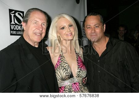 Richard Benveniste with Donna Spangler and Tim Colceri at the West Coast Premiere of 'Space Girls in Beverly Hills'. Regency Fairfax Cinema, Los Angeles, CA. 07-31-09