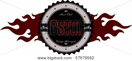 motorcycle label art