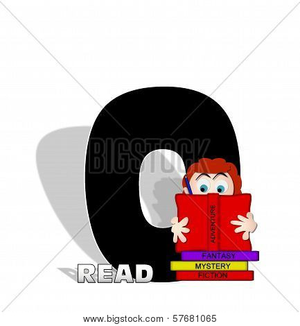 Alphabet Absorbed In Reading O